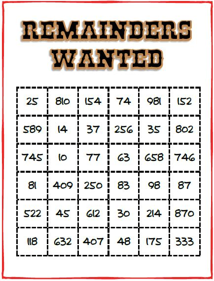 Remainders Wanted Game